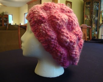 Knitting PATTERN The Big Easy Slouch Hat-- Instant Download