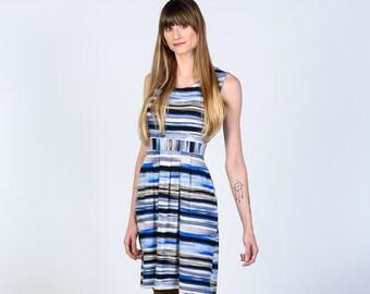 April striped jersey dress with pockets