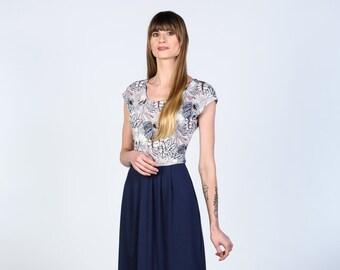 Kate jersey color block dress custom made