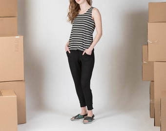 Women's ankle jogger with pockets and elastic waist/ Sorrel pant