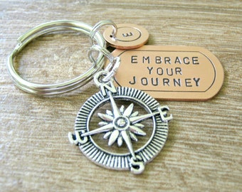 Enjoy The Journey Compass Pick-up Truck Keychain 1Z Its All About...You