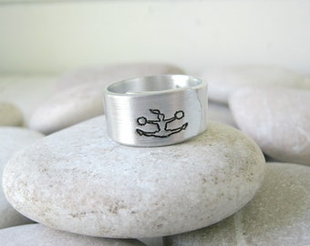 Ring with Engraving Inside Cheerleader Gifts for Teens Handmade Band Ring Cheerleader Ring Custom Rings for Women