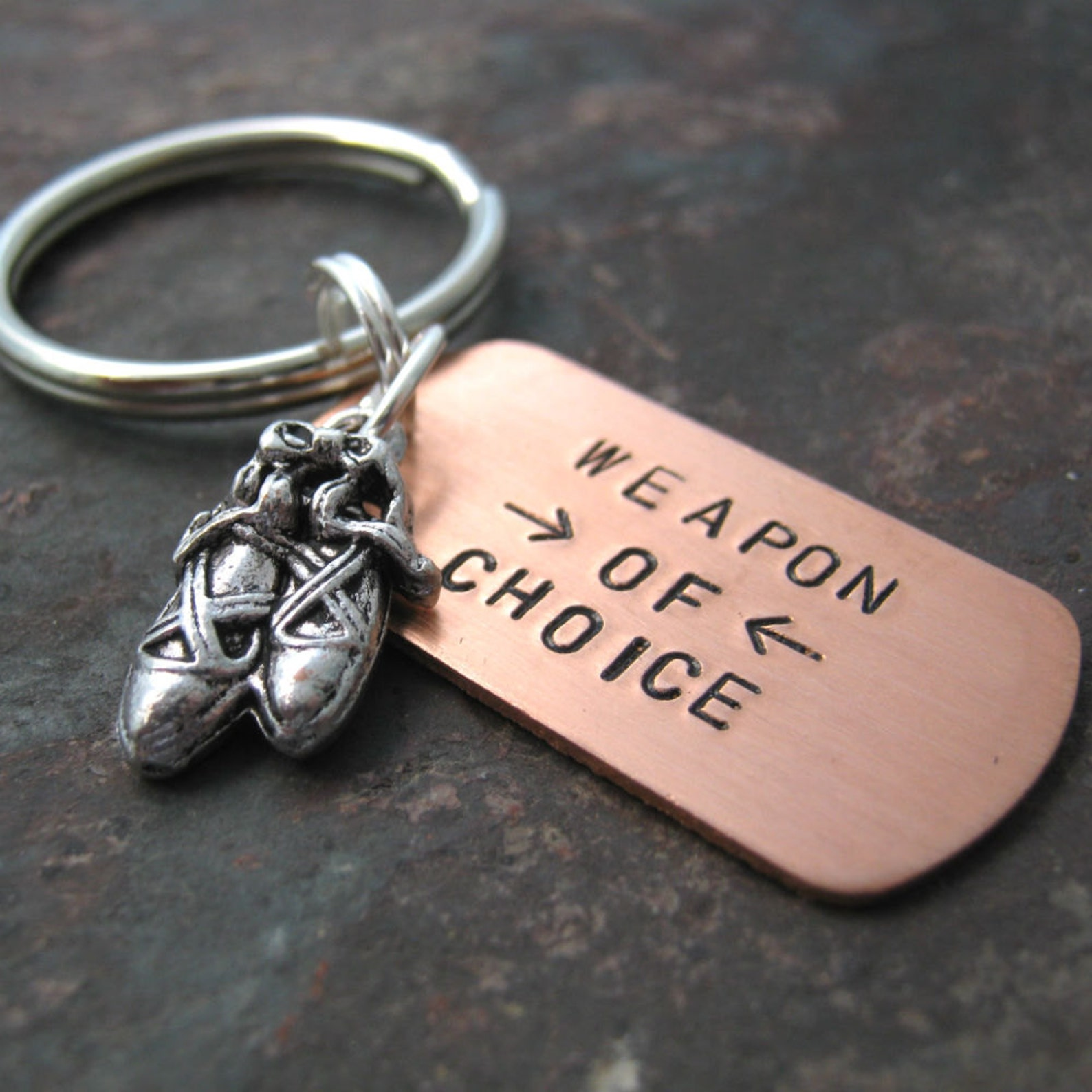 personalized ballet keychain, personalized dance keychain, ballet shoes charm, dancer gift, recital gift, optional initial disc