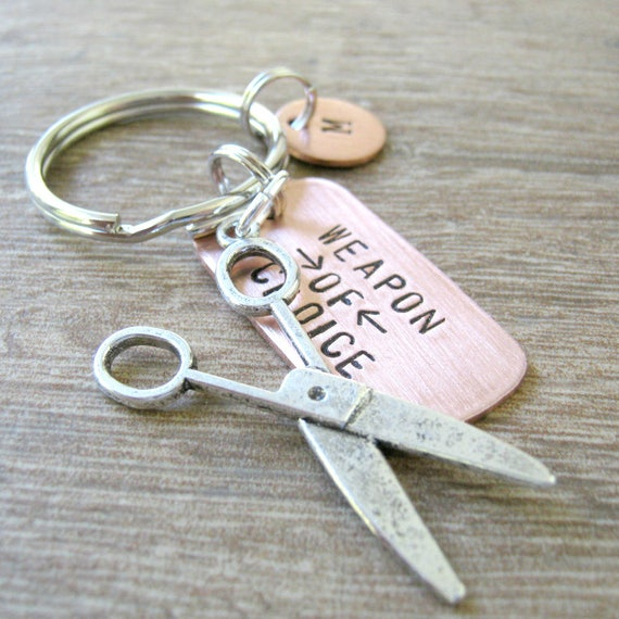 SCISSORS Keychain Weapon of Choice seamstress gift crafter  205525ef516e