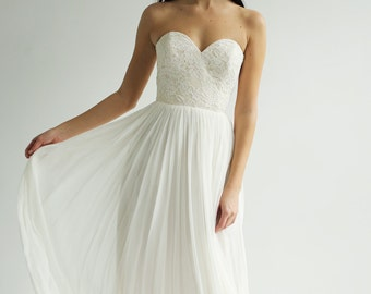 Silk and Lace Gown--