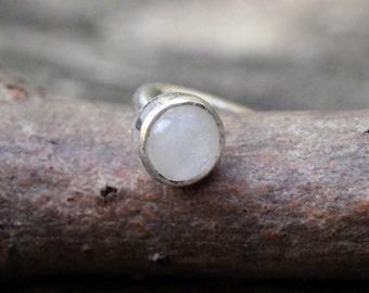 Moonstone Nose Ring Etsy