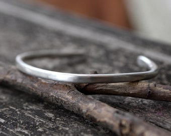 Sterling silver cuff bracelet / thick silver cuff / gift for her / stacking cuff / sterling bracelet / sterling cuff / jewelry sale