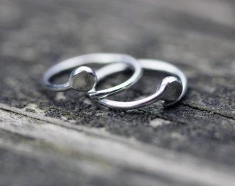 Tiny sterling silver hoop earrings / open hoop earrings / tragus earring / cartilage earring / small hoops / tiny earrings / boho earrings
