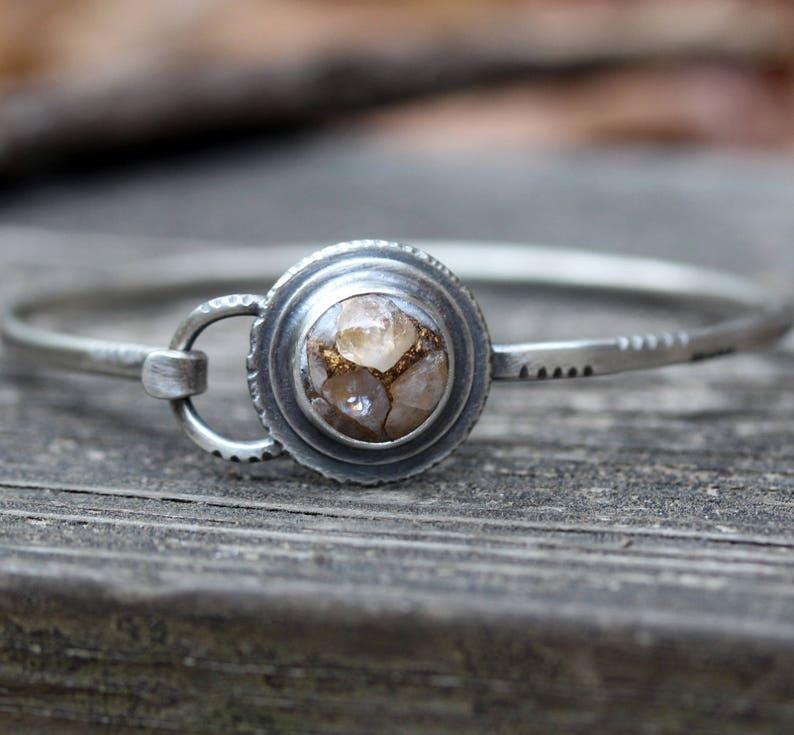 e8f6b0612b5 Ivory gold bracelet / copper calcite / sterling silver | Etsy