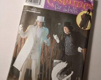 Cape Dracula Simplicity Costumes Sewing Pattern 4083 UNCUT Size AA XS,S,M Scrooge Men/'s Halloween Costume Coachman 2008 Hat Coat