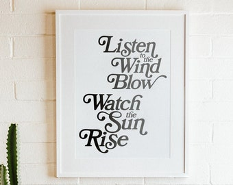 NEW Listen to the Wind Blow - Fleetwood Mac Lyric Poster