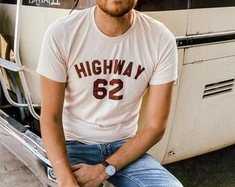 Highway 62 Vintage Inspired Tee Shirt