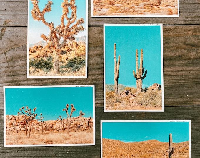 Featured listing image: Set of 5 Vintage Inspired Desert Travel Postcards