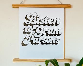 Listen to Gram Parsons Poster Print