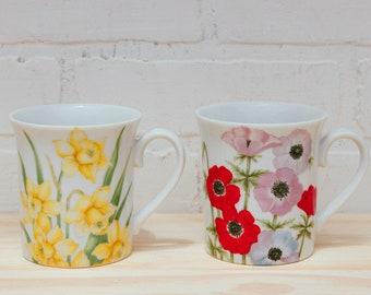Two The Gallery Flower Garden Mugs
