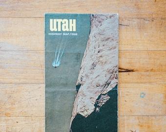 Vintage 1966 Utah Guide Map Brochure