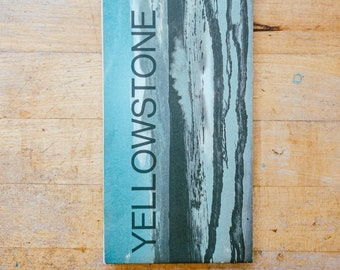 Vintage Yellowstone National Park Guide Map Brochure from 1978
