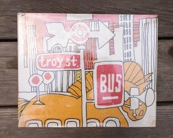 The Troy St. Bus - Vintage Children's Book - 1977