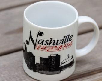 Vintage Nashville Music City Mug Tennessee