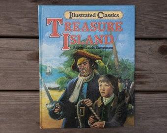 Treasure Island - Vintage Children's Illustrated Classics Picture Book - 1983