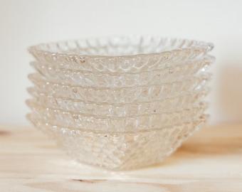 Vintage Glass Ashtray / Snack Bowl