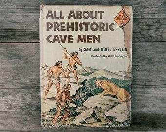 Vintage All About Books - Prehistoric Cave Men - 1959