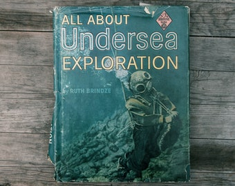 Vintage All About Books - Undersea Exploration - 1960