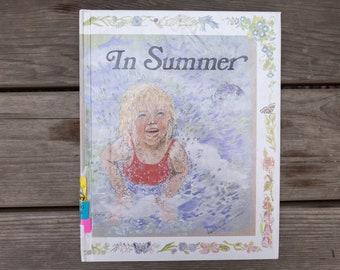 In Summer - Vintage Children's Poetry Book - 1985