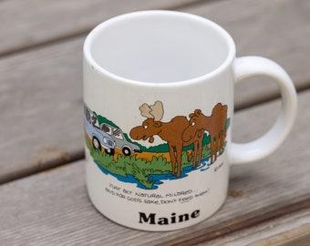 Vintage Maine Moose Mug