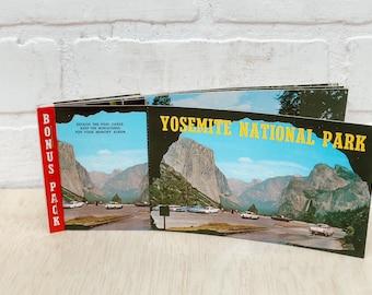 Vintage Yosemite and Sequoia National Park Postcard Books