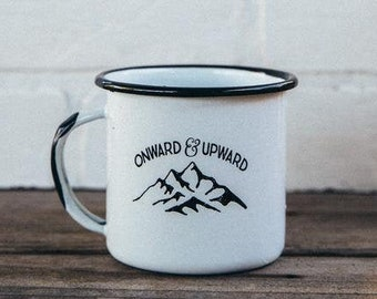 Onward & Upward Enamel Camp Mug