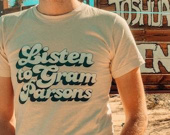 Listen to Gram Parsons Vintage Unisex Tee Shirt