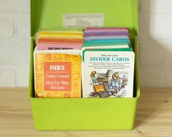 Vintage 1975 Betty Crocker Step by Step Recipe Box