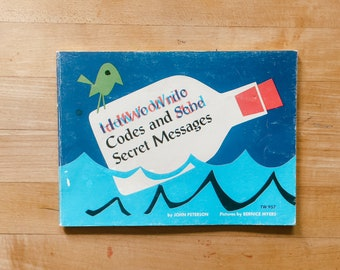 How to Write Codes and Send Secret Messages - Vintage Children's - 1974