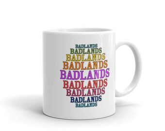 Vintage Inspired Badlands South Dakota Mug