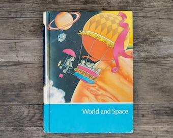 World and Space - Vintage Childcraft Children's Book