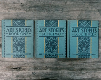 Vintage Art Stories Series Books - 1934