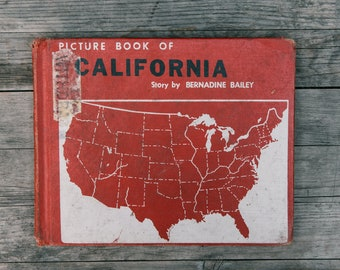Vintage Picture Book of California - 1959