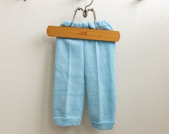 Handmade Knit Baby Blue Pants