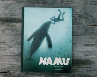 Vintage National Geographic Books for Young Explorers - Namu Making Friends with a Killer Whale - 1973