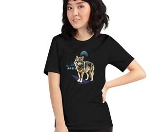 Vintage Inspired 90s Wolf Moon Tee Shirt