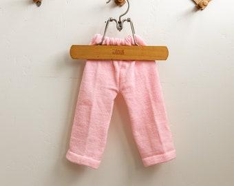 Vintage Handmade Knit Crochet Baby Pink Pants Newborn