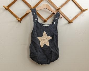 Knit Star Romper Jumper Onesie Bodysuit Kids Baby