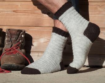 Bûcheron socks - Crochet pattern to make men's socks - PDF, available in 4 widths