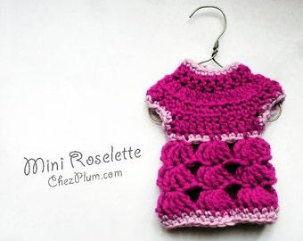 Mini Roselette - Learn to crochet a sweater - EASY CROCHET PATTERN, beginners first sweater