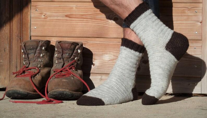 Crochet socks pattern  Bûcheron socks  Crochet tutorial to image 0