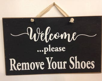 7bd6dbe876ffb Shoes off sign | Etsy