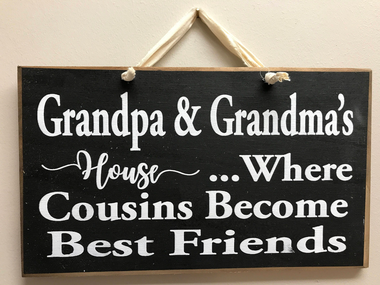 Vettern Zeichen Opa-Omas Haus wo COUSINS Freunde Zitat | Etsy