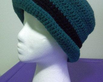 PDF Roll Brim Crusher Hat, Crochet Pattern