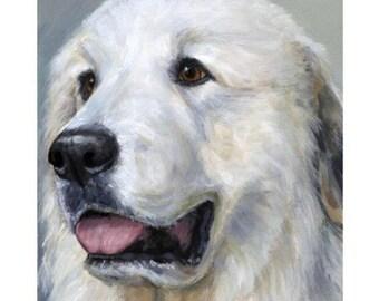 Pereneese Dog Art Portrait Print Puzzle with Photo Tin